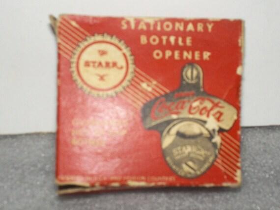vintage coca cola starr x bottle opener by dollysdoodads1 on etsy. Black Bedroom Furniture Sets. Home Design Ideas