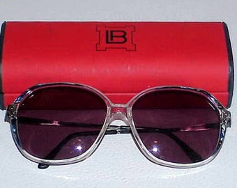 Vintage Laura Biagiotti Sunglasses V170 95L Italy 1980s with Original Hard Case