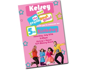 20 Fresh Beat Band Birthday Party Invitations (includes envelopes)