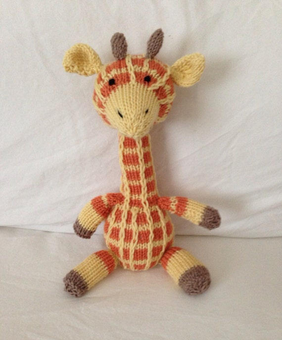 Hand Knitted Toys : Items similar to hand knitted toy soft plush