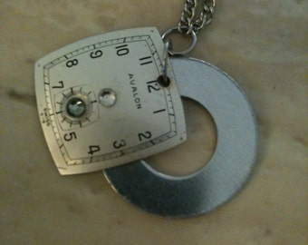 Steampunk Necklace - Vintage Watch Dial