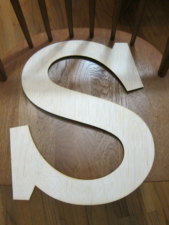 etsy your place to buy and sell all things handmade With 18 inch unpainted wooden letters
