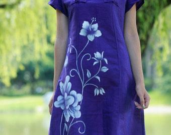 maxi dress summer dress plus size dress maxi dresses summer dresses hand painted dress womens summer dresses unique dress long dresses