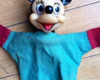 Vintage 1960's Disney Minnie Mouse Hand Puppet