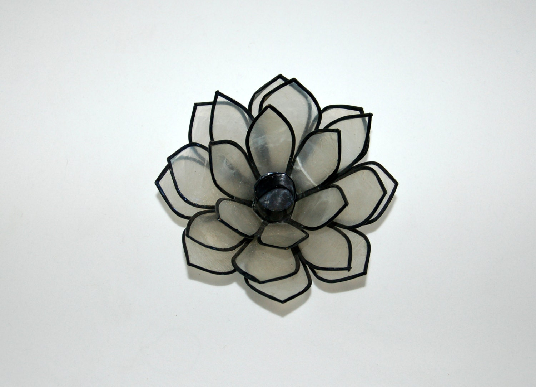 Capiz shell lotus flower candle holder home by thegardenhome - Capiz shell tealight holder ...