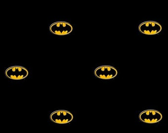 Bat Superhero Symbol Logo on Black Wallpaper - Cartoon, Comic, Boys, Man Cave, Super Hero, Wings - By The Yard - BZ9234 fl
