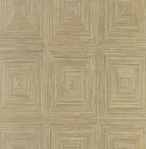 Trend Alert Grasscloth Wallpaper: Faux Grasscloth Square Tile Look Wallpaper Natural