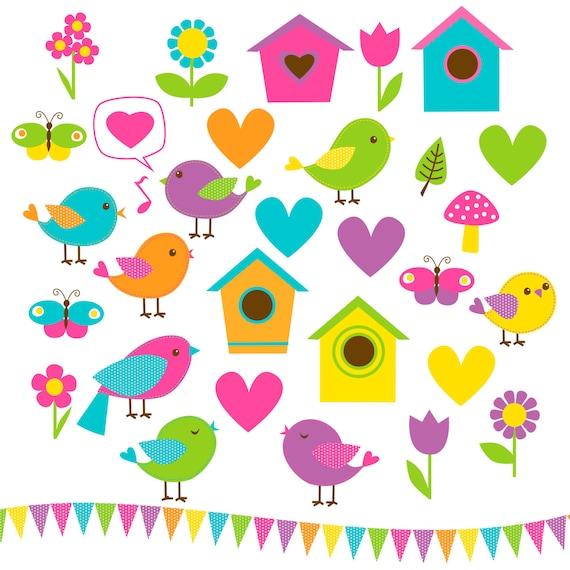 SALE 60% OFF Birds Clip Art 33 Candyland by WhatIsScrapbooking