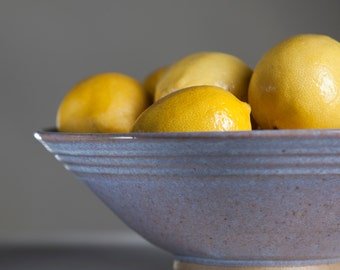 Light Blue Ceramic Serving Bowl  - Handmade Pottery