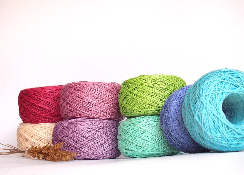 Linen Yarn : Balls Natural Linen Yarn High Quality Linen Yarn by LinenSpirit