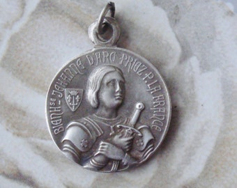 Antique Religious medal St. Joan Of Arc