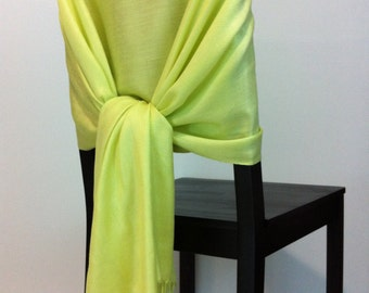 KEY LIME PASHMINA, Key Lime Pashmina Scarf, Pashmina Shawl, Wedding Shawl, Pashmina Wrap, Bridesmaid Shawl, Wedding Favors, Chair Covers