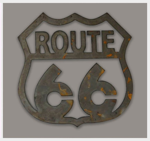Traffic Signs Wall Decor : Route metal art road sign and wall replica by
