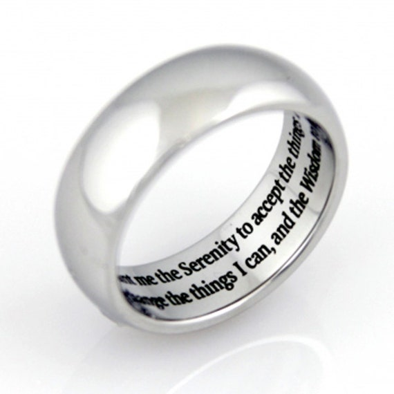 serenity prayer ring prayer ring wedding bands wedding With prayer for wedding rings