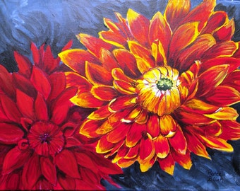 """This is a print of my original painting titled """" Burst Forth"""" 5x7,8x10,11x14,16x20,wrapped canvas, note cards"""