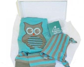 Organic Cotton Oscar Owl 3-Piece Gift Set
