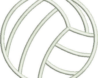 VOLLEYBALL Applique Design - Instant Download Digital File - Machine Embroidery