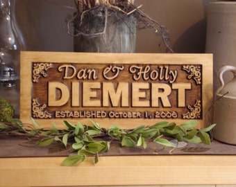 Personalized Wooden Carved Sign, 3D Personalized Anniverdary Gift, Wedding Sign, Welcome Sign, Signs and Gifts #35