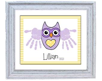 Owl Handprint Art - Printabe