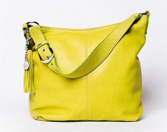 Yellow hobo bag | Etsy