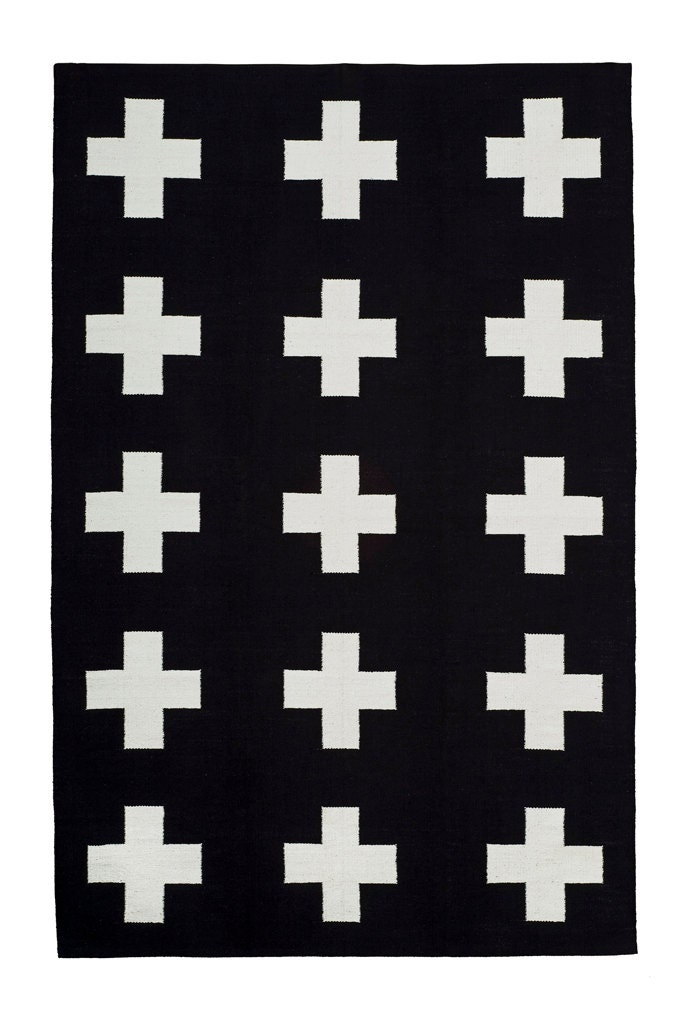 Union Rug 8x10 Cotton Flatweave Rug Black And By