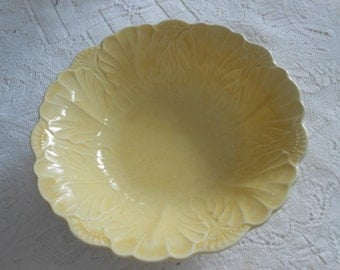 Vintage Yellow Serving Bowl.