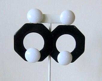Mod style vintage earrings
