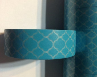Turquoise Lattice Washi Tape