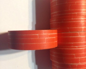 Orange brick washi tape