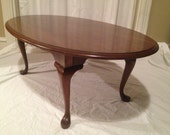 Pennsylvania House Oval Cherry Coffee Table   Queen Anne Style   Solid Wood