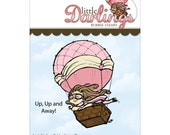 Up, Up and Away - unmounted rubber stamp by Little Darlings Rubber Stamps