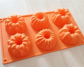 DIY Cake Mold Soap Mold Flexible Silicone 6-Mixed Lily Flower Candle Candy Chocolate Cake Fimo Resin Crafts