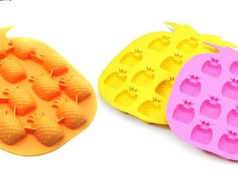 12-Pineapple Ice Tray Ice Mould Flexible Silicone Mold diy Mold Handmade tool