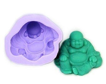 Laughing Buddha Soap Mold Flexible Silicone Mould For Handmade Soap Candle Candy Cake Fimo Resin Crafts