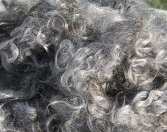 1.4 lbs of adult silver mohair washed