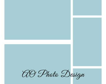 Storyboard Template - 12x12 Album Template - Instant Download - One 12x12 .PSD file - For Photographers