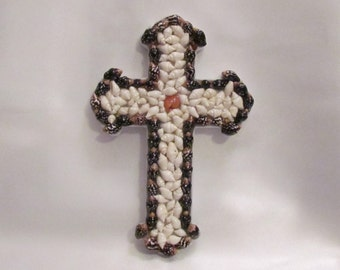 Seashell  Porcelain Cross