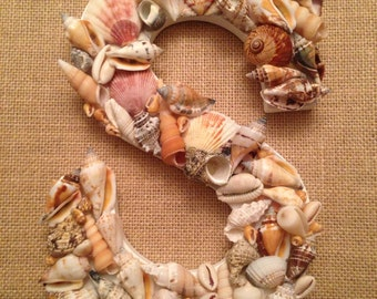 Shell Letter Beach Decor