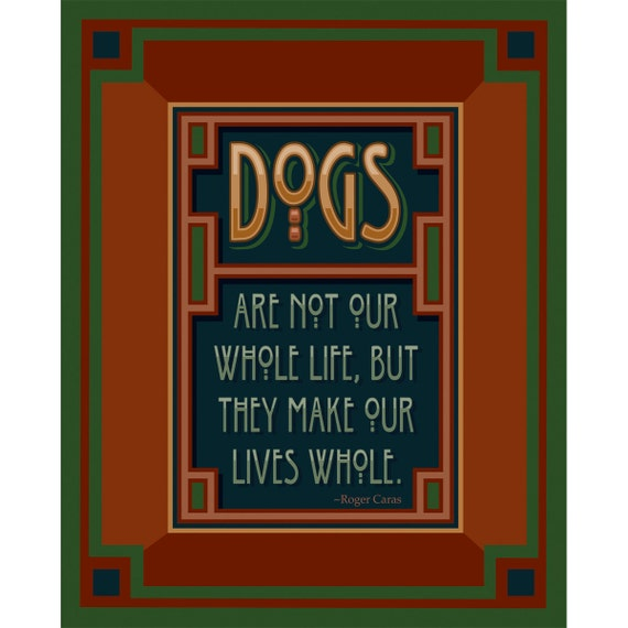 Arts And Crafts Mission Style Unframed Print Dog Subject