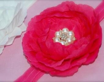 Talia headband - Hot pink