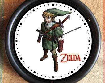 LEGEND OF ZELDA Link Standing Big 10 inch black wall clock  Ships Tomorrow