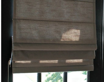 "Custom Made Traditional Roman Shade - You Choose Fabric and Lining - 35""w and under"