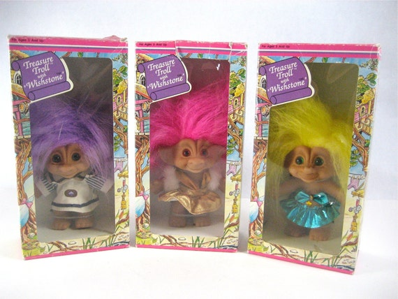 1990s Troll Dolls Treasure troll with wishstone
