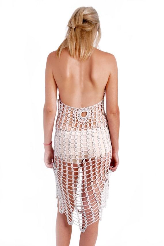 Crochet Dressice Mesh Dress Swimsuit Cover Up Woman Wedding