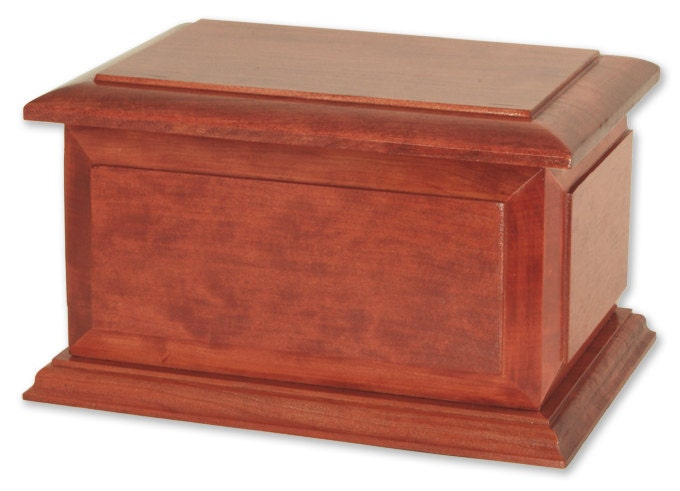 Boston Cherry Wood Cremation Urn