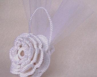 Favor flower crochet handbag (art. 35)