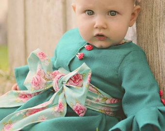 Instant Download - Elenora's Ruffle Tea Coat PDF Pattern -Sizes 3months- girls 10