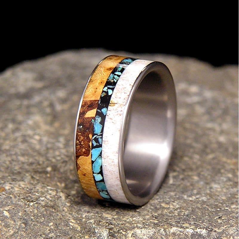 zoom - Antler Wedding Rings
