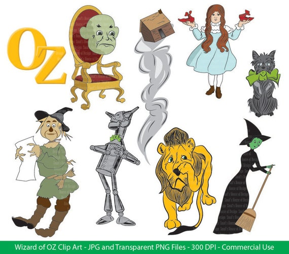 Items similar to Wizard of OZ Clip Art - Digital File ...