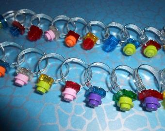 1 x 1 brique Ring Girls de fait à la main ou femmes bizarre nouveauté bijoux, réalisé à l'aide de briques LEGO, nouvelle taille réglable
